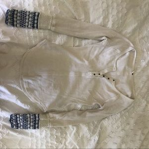 WHITE THERMAL TOP FROM FREE PEOPLE SIZE XS